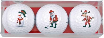 Sportiques 3er Ball-Geschenkset Weihnachtsmotive