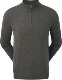 FootJoy Wool Blend 1/2 Zip Pullover, heather charcoal