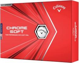 Callaway Chrome Soft Golfbälle, white