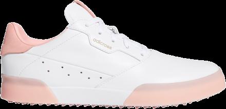 adidas Adicross Retro Golfschuh, white/pink/white