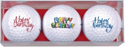 Sportiques 3er Ball-Geschenkset Happy Birthday