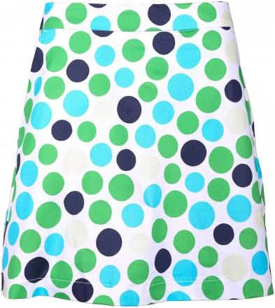 girls golf Polka Dot Skort, 5726 blue polka