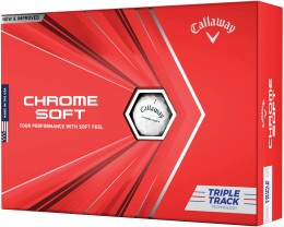 Callaway Chrome Soft Triple Track Technology Golfbälle, white