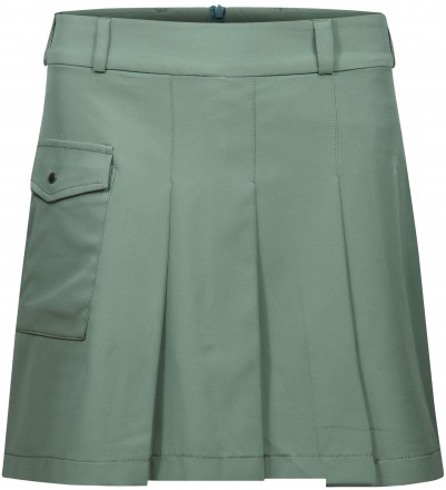 Cross Pleat Skort, green
