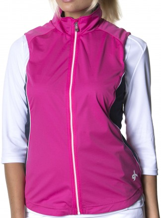 Cross Wind Vest, 387 cosmic pink