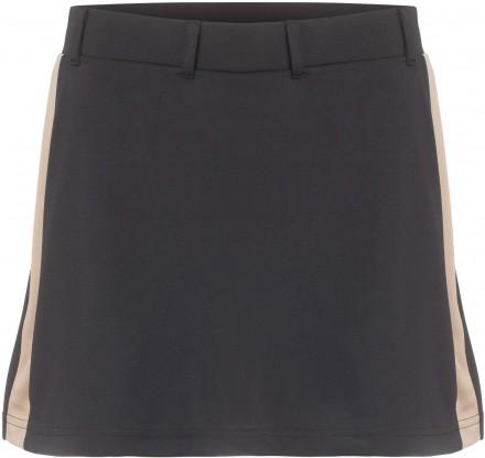 Cross Stripe Skort, black