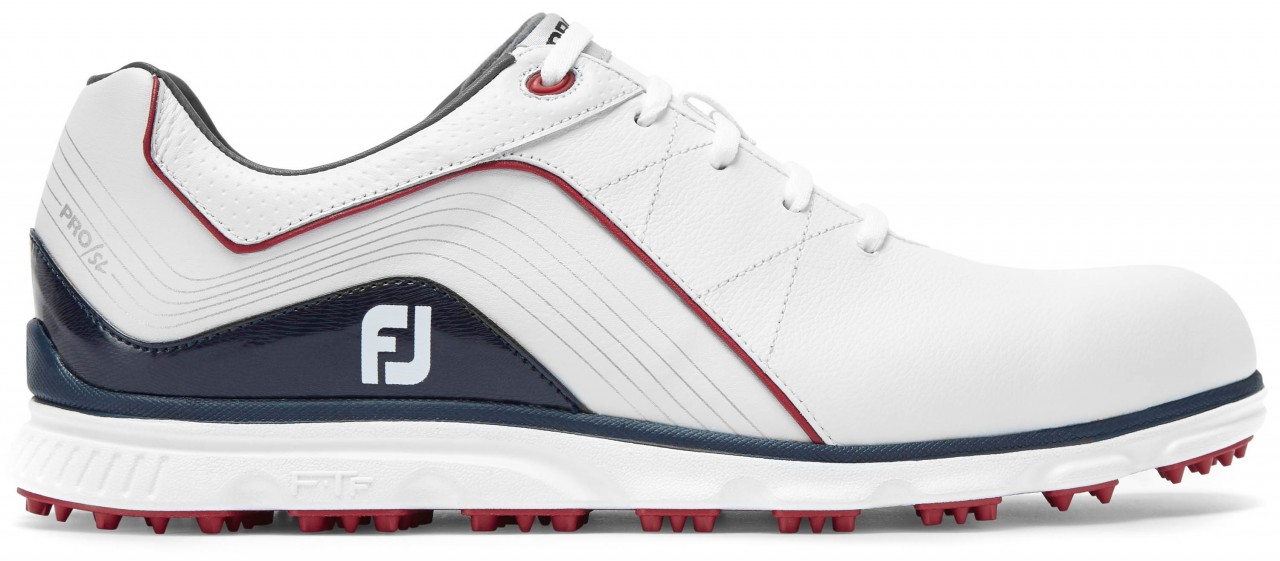 FootJoy Pro/SL, M-Leisten, white/navy/red
