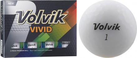 Volvik VIVID Golfbälle, white