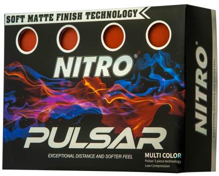 Nitro Pulsar Golfbälle, orange