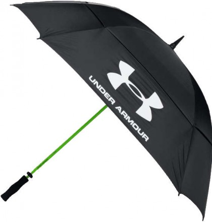 Under Armour Golf Umbrella, 001 black/hyper green/white
