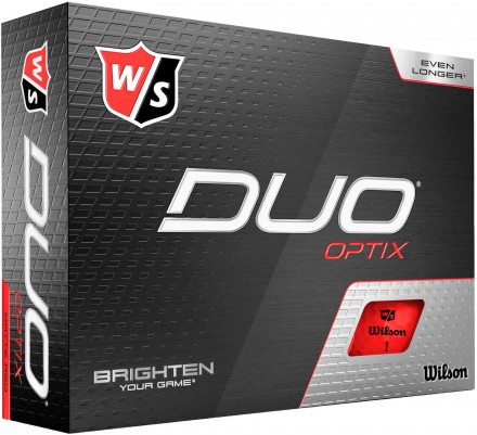 Wilson DUO Optix Golfbälle, red