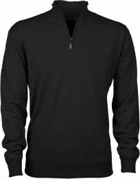 Greg Norman Windbreaker Lined 1/4 Zip Sweater, dark grey