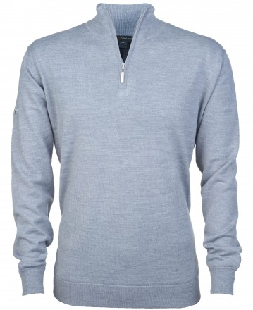 Greg Norman Windbreaker Lined 1/4 Zip Sweater, grey (steel)