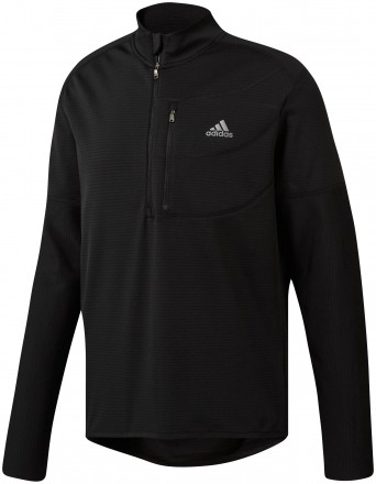 Adidas Gripped 1/4 Zip Pullover, black/grey