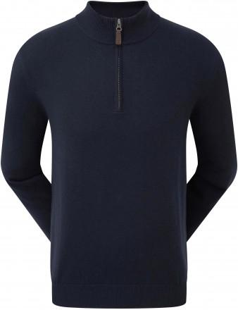 FootJoy Wool Blend 1/2 Zip Pullover, navy