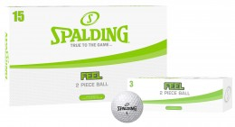 Spalding Feel Golfbälle, white