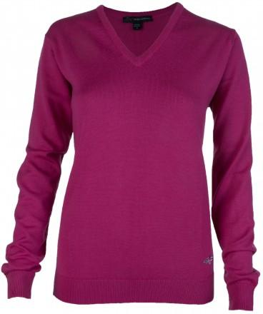 Greg Norman Merino V-Neck Pullover, dark pink