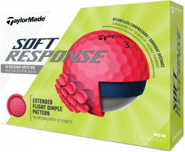 TaylorMade Soft Response Golfbälle, red