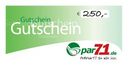 par71 Online-Gutschein über 250,- Euro