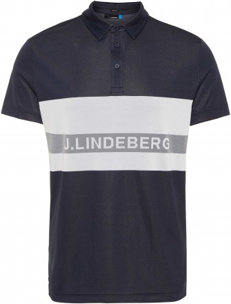 J.Lindeberg Theo Reg Fit TX Jaquard Polo, jl. navy