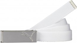 Puma Path Web Belt, 01 White, Onesize