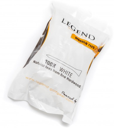 Legend 2 3/4 (7.0 cm) Holztees, weiß, 100 Stück