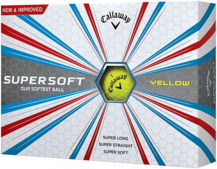 Callaway Supersoft Golfbälle, yellow