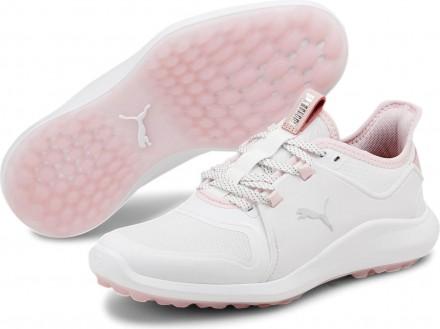 Puma Ignite Fasten8 Golfschuh, white/silver/pink