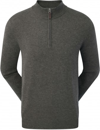 FootJoy Wool Blend 1/2 Zip Pullover, heather charcoal
