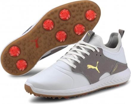 Puma Ignite Pwradapt Caged Crafted Golfschuh, white/rise