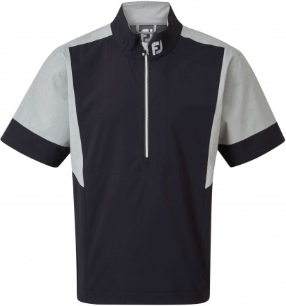 FootJoy HLV2 Short Sleeve Rain Shirt, black/heather
