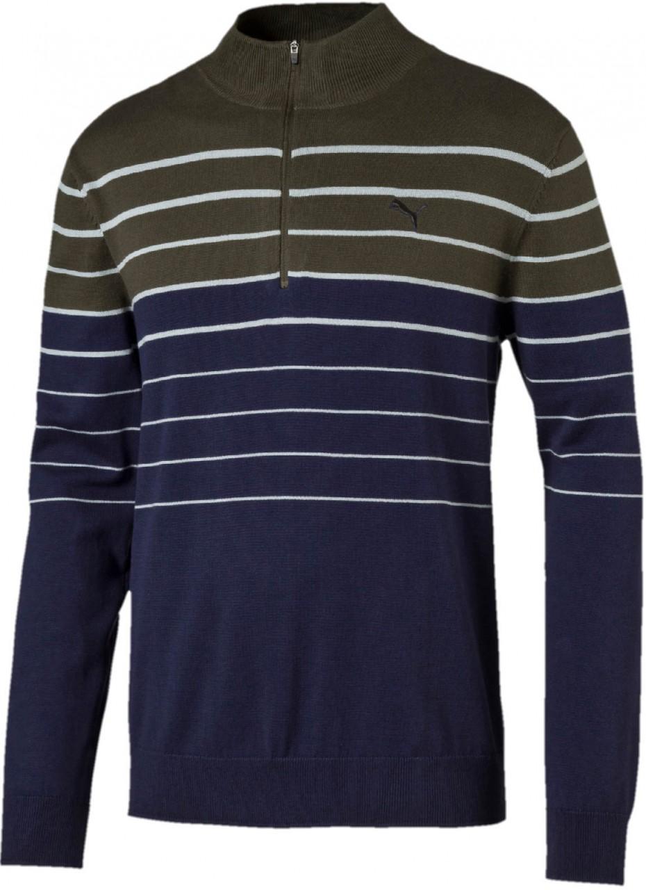 Puma 1/4 Zip Sweater, 01 forest night