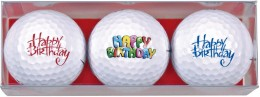 Sportiques 3er Ball-Geschenkset Happy Birthday