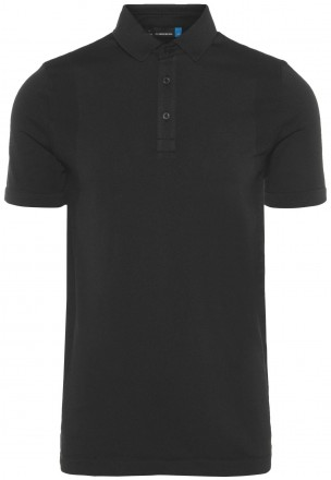J.Lindeberg Ash Lightweight Seamless Polo, black