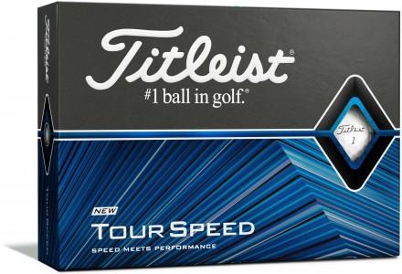 Titleist Tour Speed Golfbälle, white