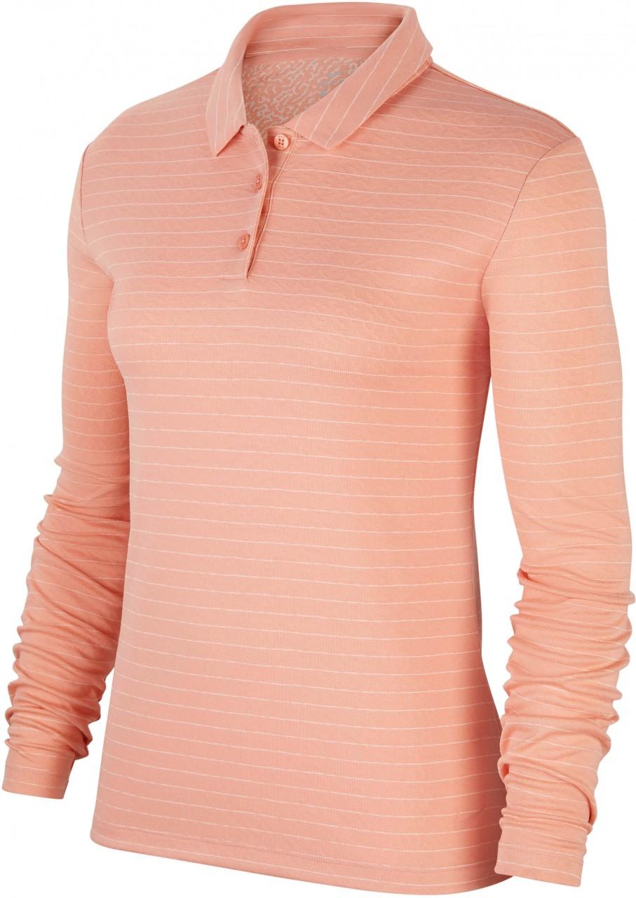 Nike Dry LS Polo, pink/quartz