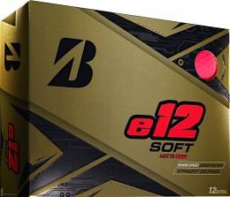Bridgestone e12 SOFT Golfbälle, red