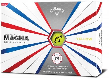 Callaway Supersoft MAGNA Golfbälle, yellow
