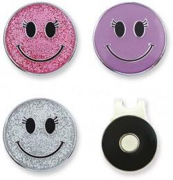 Sisters in Law 3 Ballmarker + magnetischer Clip, Smiley