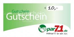 par71 Online-Gutschein über 10,- Euro