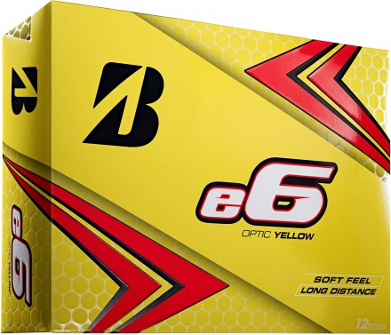 Bridgestone e6 Golfbälle, yellow