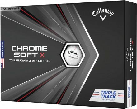 Callaway Chrome Soft X Triple Track Technology Golfbälle, white