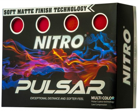 Nitro Pulsar Golfbälle, red