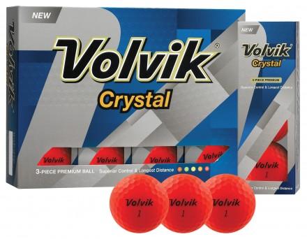 Volvik Crystal Golfbälle, red