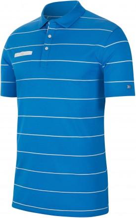 Nike Dri Fit Streifen Polo, photo blue