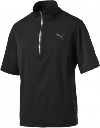 Puma Short Sleeve Rain Popover, black