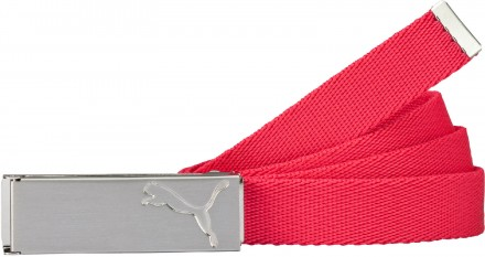 Puma Path Web Belt, 04 Rose Red, Onesize