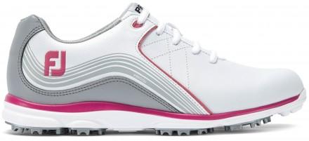 FootJoy Pro/SL Golfschuh, M, white/grey/fuchsia
