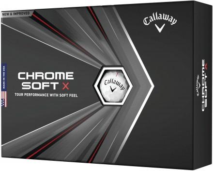 Callaway Chrome Soft X Golfbälle, white
