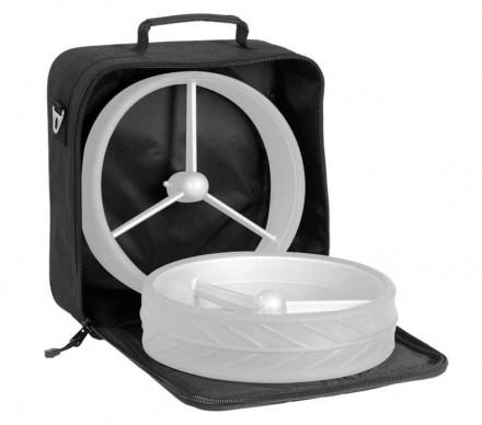 JuCad Rädertasche, 34x34cm, schwarz